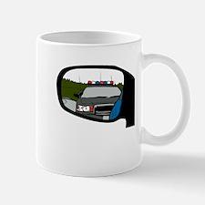 Cop In Rearview Mirror Mugs
