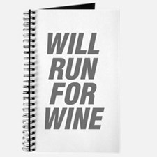 Cute Will run for wine Journal