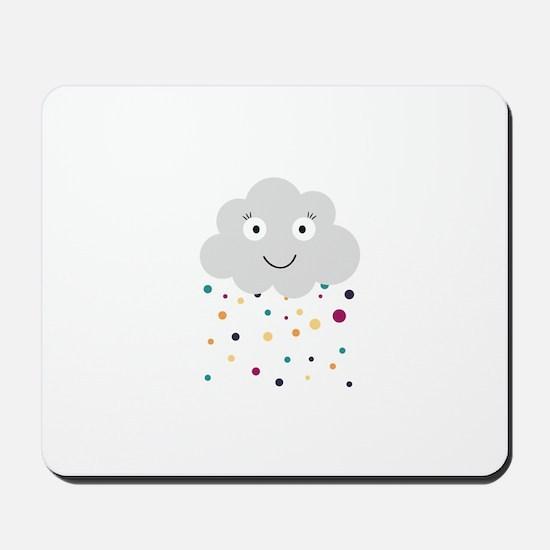 Confetti cloud Mousepad