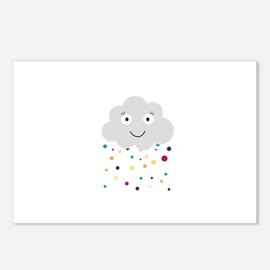 Confetti cloud Postcards (Package of 8)