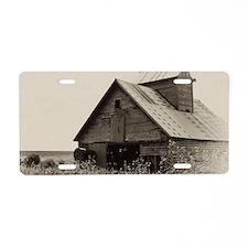 Old Iowa Farm Barn Aluminum License Plate