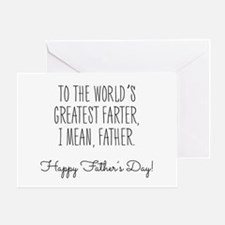 World's Greatest FARTER - Father's Day Greeting Ca