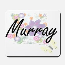 Murray surname artistic design with Flow Mousepad