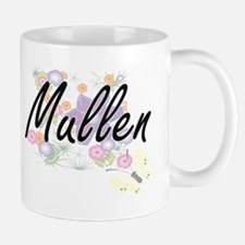 Mullen surname artistic design with Flowers Mugs