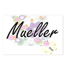 Mueller surname artistic Postcards (Package of 8)