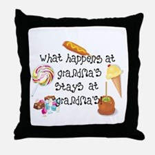 What Happens at Grandma's... Throw Pillow