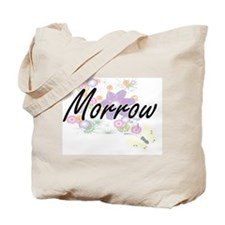 Morrow surname artistic design with Flowe Tote Bag