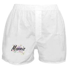 Morris surname artistic design with F Boxer Shorts