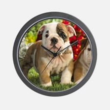 Cute English Bulldog Puppy Wall Clock