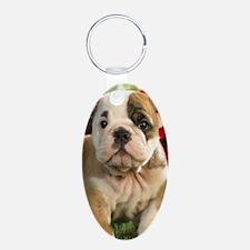 Cute English Bulldog Puppy Keychains