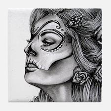 Dia De Los Muertos Drawing Tile Coaster