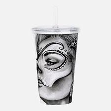 Dia De Los Muertos Drawing Acrylic Double-wall Tum