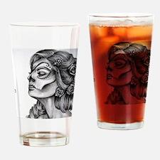 Dia De Los Muertos Drawing Drinking Glass