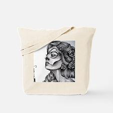 Dia De Los Muertos Drawing Tote Bag