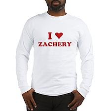 I LOVE ZACHERY Long Sleeve T-Shirt