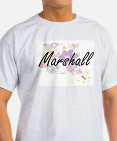 Marshall surname artistic design with Flow T-Shirt