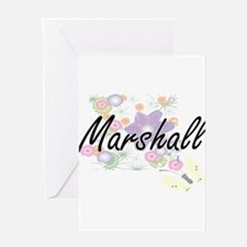 Marshall surname artistic design wi Greeting Cards
