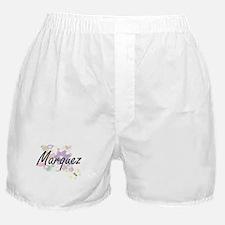 Marquez surname artistic design with Boxer Shorts