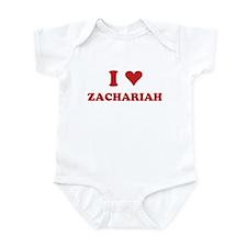 I LOVE ZACHARIAH Onesie