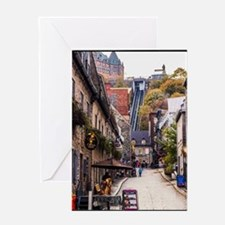 Old Quebec, Rue Sous Le Fort Greeting Card