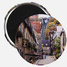 """Old Quebec, Rue Sous Le For 2.25"""" Magnet (10 pack)"""