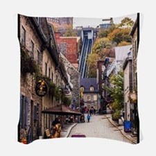 Old Quebec, Rue Sous Le Fort Woven Throw Pillow