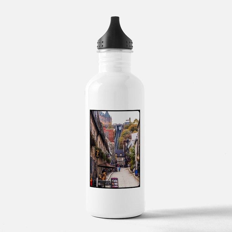 Old Quebec, Rue Sous L Water Bottle