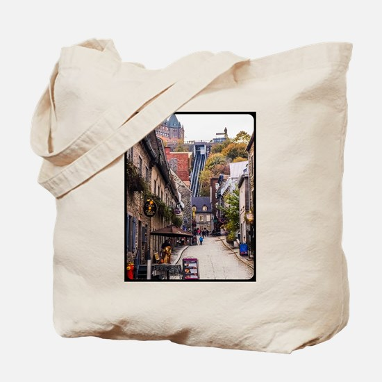 Old Quebec, Rue Sous Le Fort Tote Bag