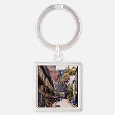 Old Quebec, Rue Sous Le Fort Square Keychain