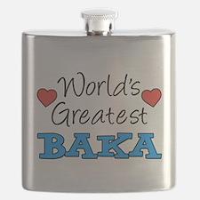 World's Greatest Baka Drinkware Flask