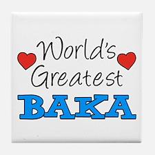 World's Greatest Baka Drinkware Tile Coaster