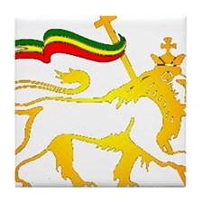 KING OF KINGZ LION Tile Coaster