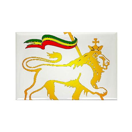 KING OF KINGZ LION Rectangle Magnet (10 pack)