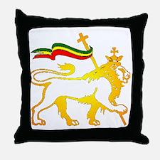 KING OF KINGZ LION Throw Pillow
