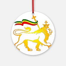 KING OF KINGZ LION Ornament (Round)