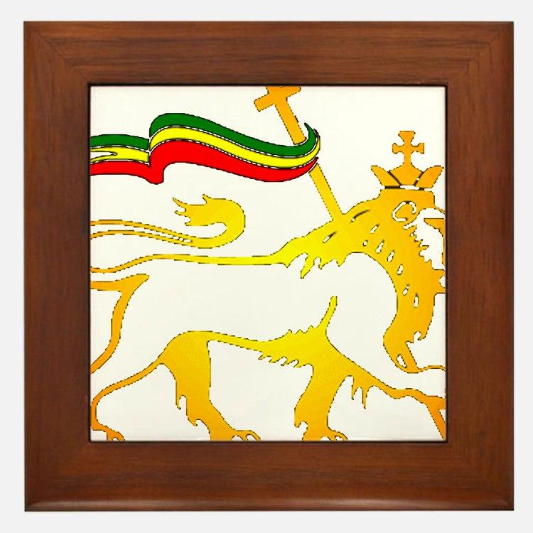 KING OF KINGZ LION Framed Tile