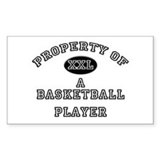 Property of a Basketball Player Sticker (Rectangul