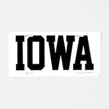 Iowa Jersey Font Aluminum License Plate