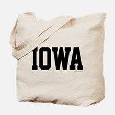 Iowa Jersey Font Tote Bag
