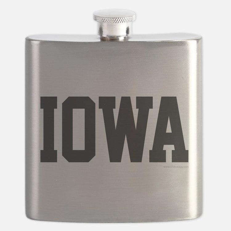 Iowa Jersey Font Flask