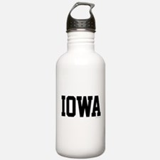 Iowa Jersey Font Water Bottle