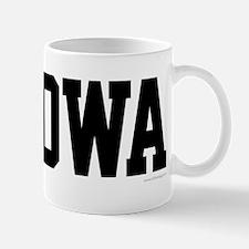 Iowa Jersey Font Mug