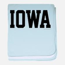 Iowa Jersey Font baby blanket