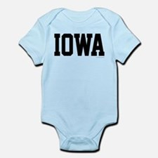 Iowa Jersey Font Infant Bodysuit
