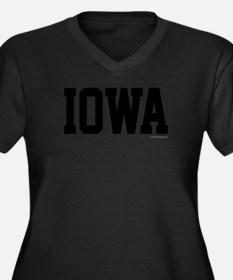 Iowa Jersey Women's Plus Size V-Neck Dark T-Shirt