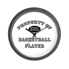 Property of a Basketball Player Wall Clock