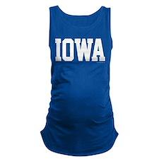 Iowa Jersey Font Maternity Tank Top