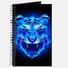 Blue Fire Tiger Face Journal