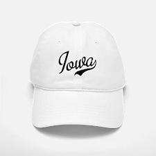 Iowa Script Font Baseball Baseball Cap
