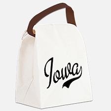 Iowa Script Font Canvas Lunch Bag